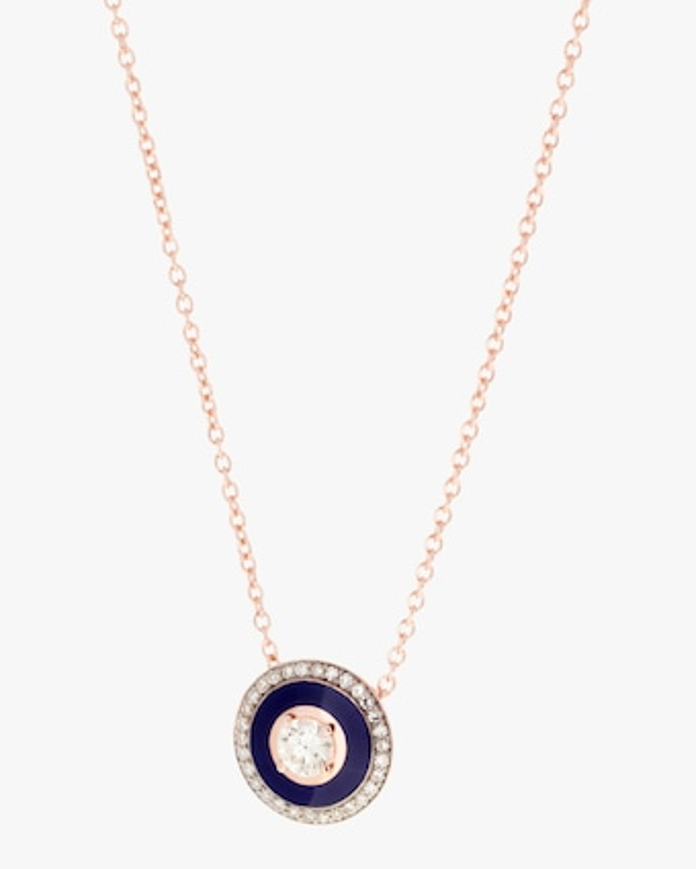 Selim Mouzannar Navy Enamel & Diamond Pendant Necklace 1