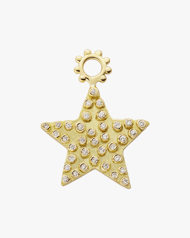 Gaya The Maxi Diamond Star Hoop Charm 0