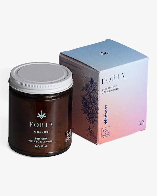 FORIA Wellness Bath Salts with CBD & Lavender 0