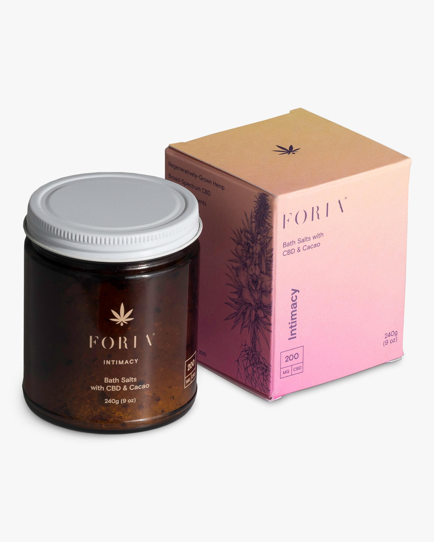 FORIA Intimacy Bath Salts with CBD & Cacao 1