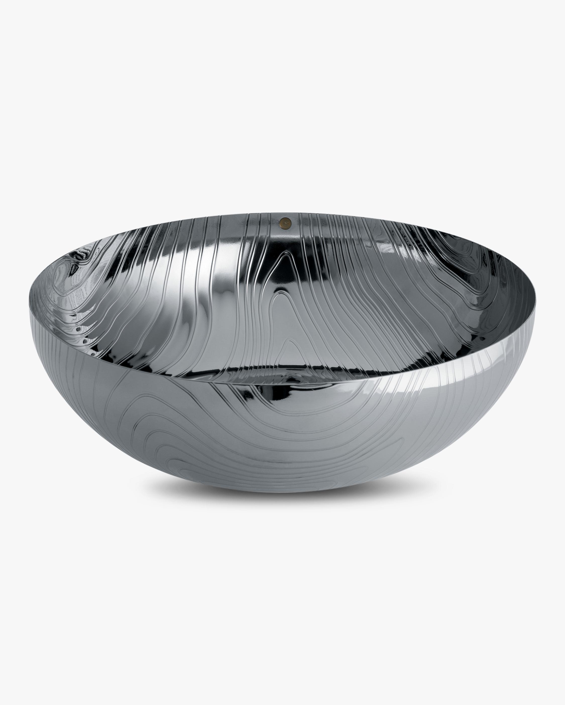 ALESSI Stainless Steel & Veneer Bowl 1