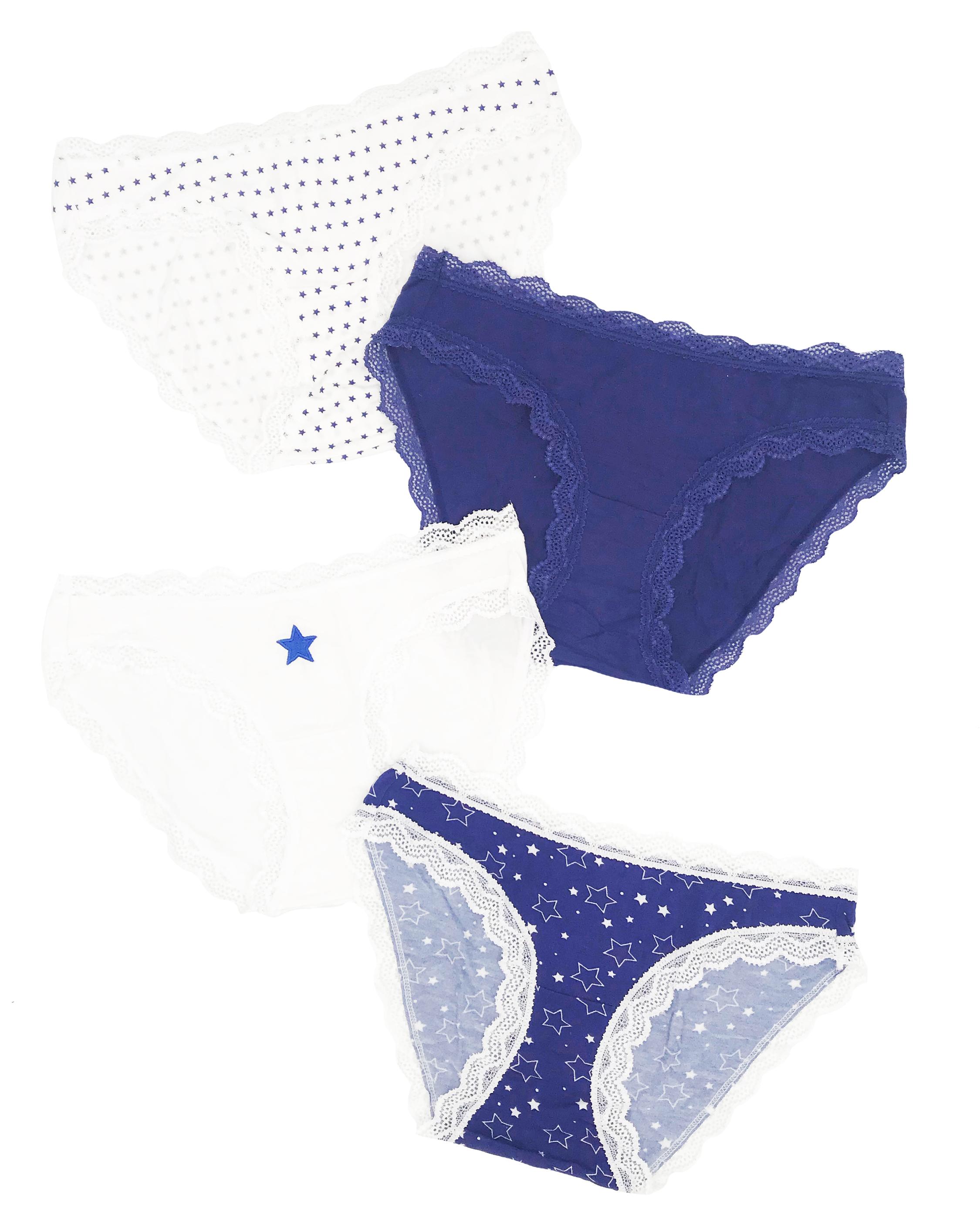 Stripe & Stare Starry Night Knicker Box 4PK 1