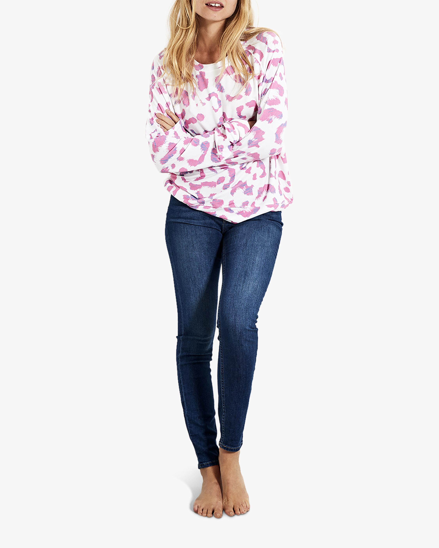 Stripe & Stare Leopard Sweatshirt 0