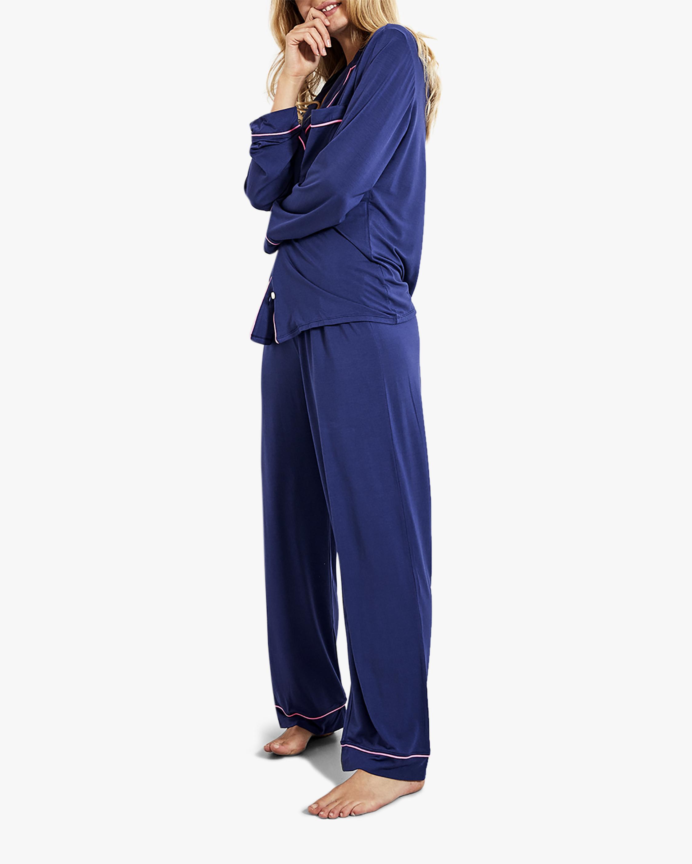Stripe & Stare Navy Long Pajama Set 2