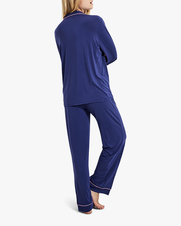 Stripe & Stare Navy Long Pajama Set 3