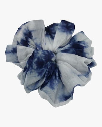 Dauphines of New York Blue Skies Tie-Dye Scrunchie 1