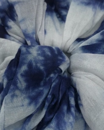 Dauphines of New York Blue Skies Tie-Dye Scrunchie 2