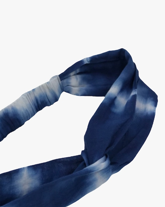 Dauphines of New York Blue Skies Tie-Dye Turban 1