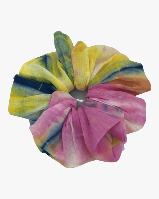 Dauphines of New York Bright Idea Tie-Dye Scrunchie 0