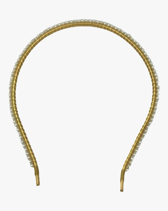 Dauphines of New York Falling in Love Pearl Headband 1