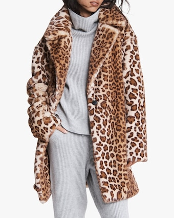 rag & bone Emma Leopard Faux Fur Coat 1
