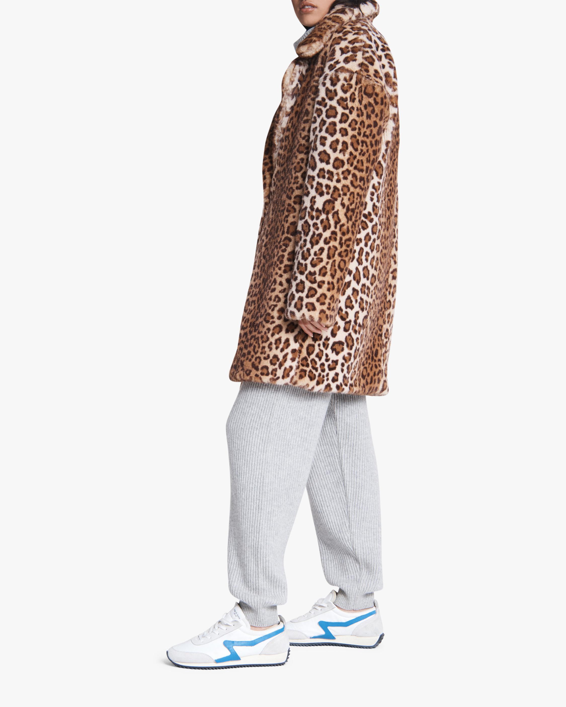 rag & bone Emma Leopard Faux Fur Coat 2