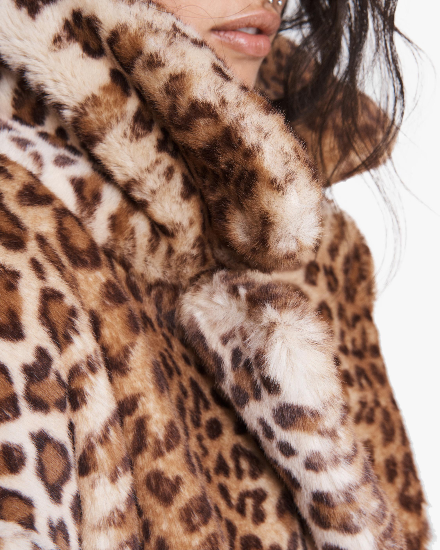 rag & bone Emma Leopard Faux Fur Coat 4