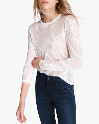 rag & bone Valencia Floral Long-Sleeve top 2