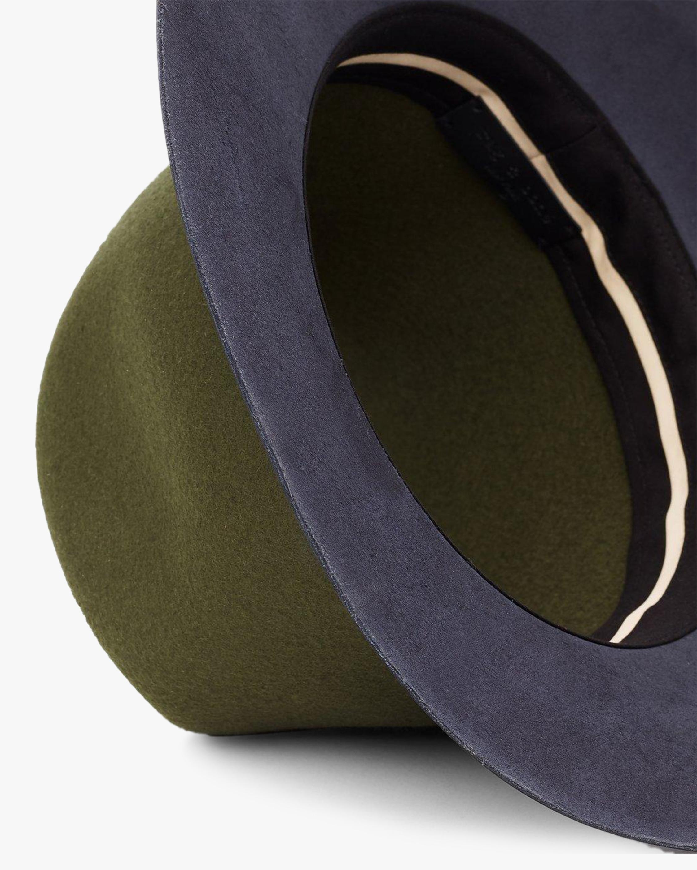 rag & bone Floppy Leather-Brim Wool Hat 1