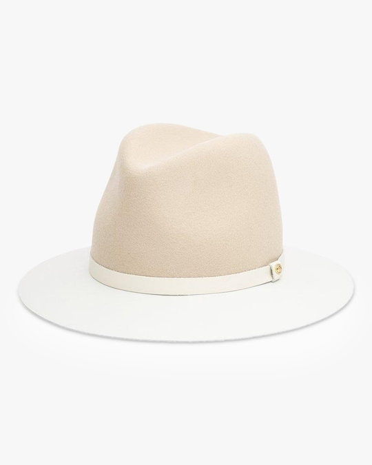 rag & bone Floppy Leather-Brim Wool Hat 0