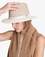 rag & bone Floppy Leather-Brim Wool Hat 1