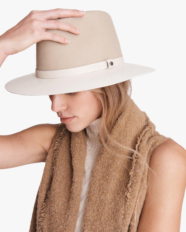 rag & bone Floppy Leather-Brim Wool Hat 2