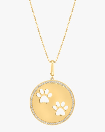 Graziela Gems Paw Circle Pendant Necklace 1