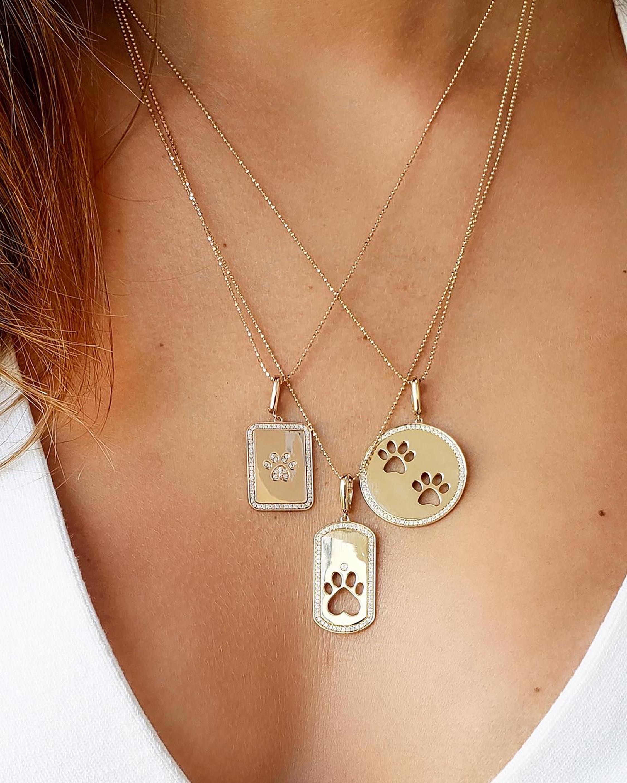 Graziela Gems Paw Circle Pendant Necklace 1