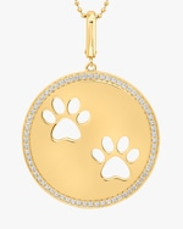 Graziela Gems Paw Circle Pendant Necklace 2