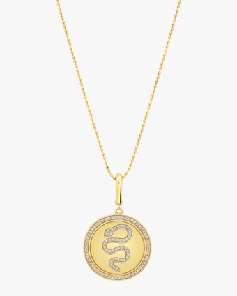 Graziela Gems Snake Circle Pendant Necklace 1