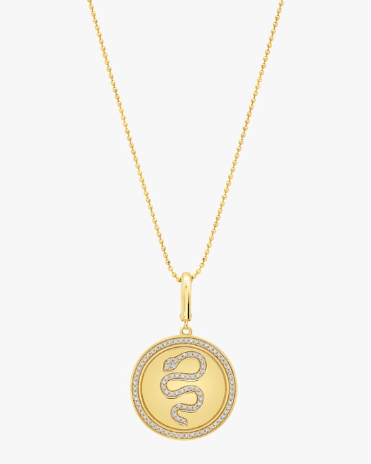 Graziela Gems Snake Circle Pendant Necklace 0