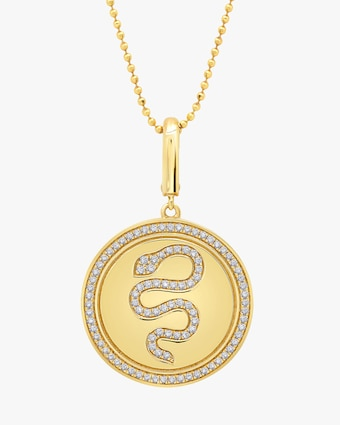 Graziela Gems Snake Circle Pendant Necklace 2