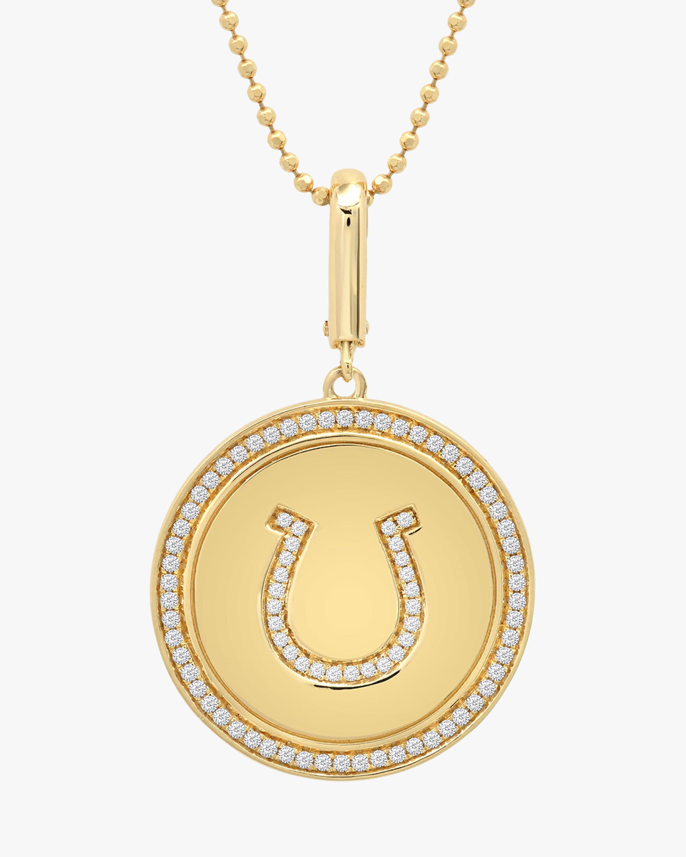 Graziela Gems Lucky Horseshoe Pendant Necklace 1