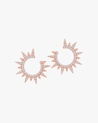 Graziela Gems Rose Gold Everest Earrings 1