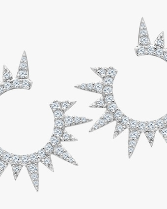 Graziela Gems White Gold Everest Earrings 2