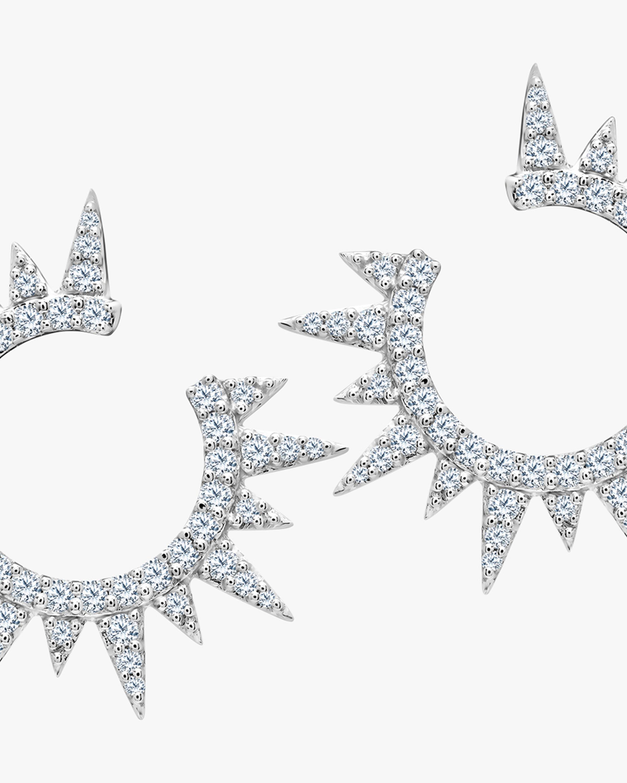 Graziela Gems White Gold Everest Earrings 1