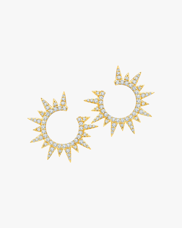 Graziela Gems Yellow Gold Everest Earrings 1