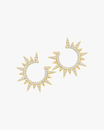 Graziela Gems Yellow Gold Everest Earrings 1