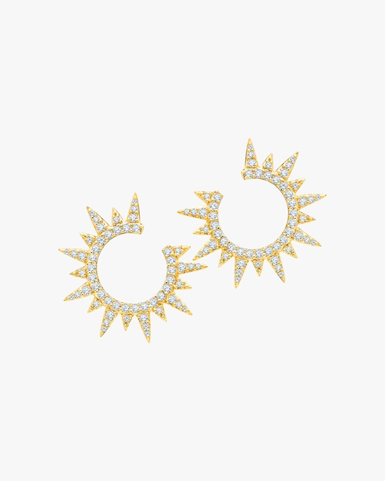 Graziela Gems Yellow Gold Everest Earrings 0