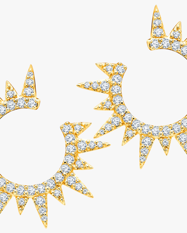 Graziela Gems Yellow Gold Everest Earrings 2