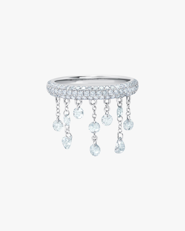 Graziela Gems White Gold Floating Diamond Ring 1