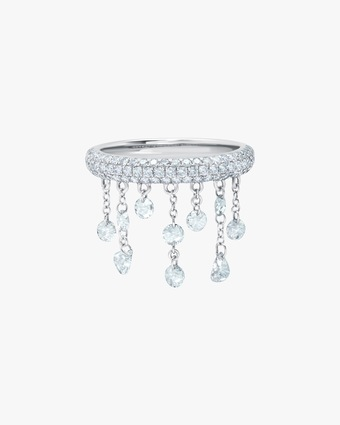 Graziela Gems White Gold Floating Diamond Ring 1
