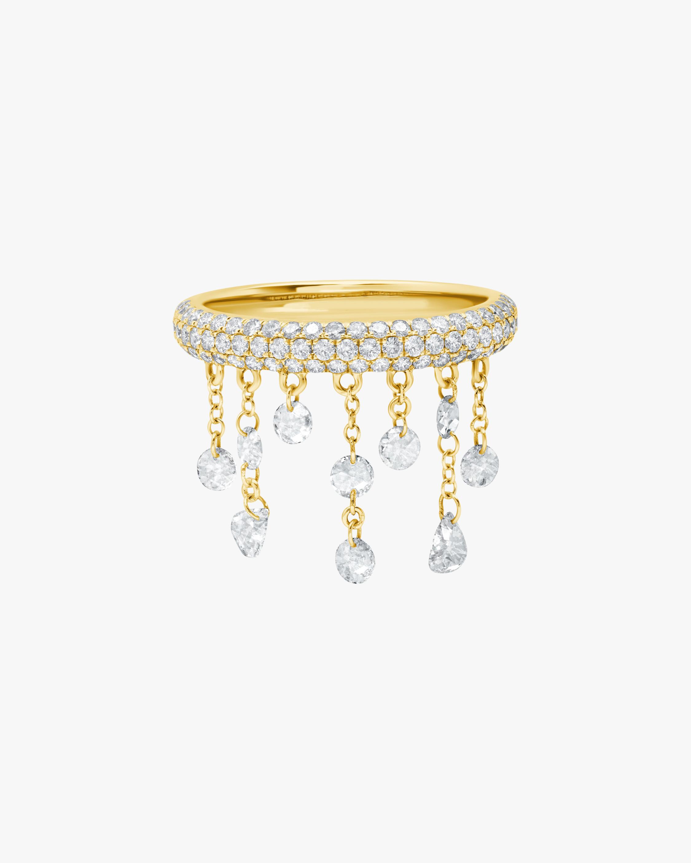 Graziela Gems Yellow Gold Floating Diamond Ring 1
