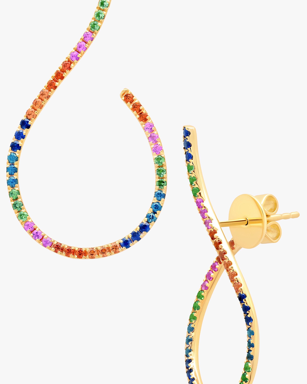 Graziela Gems Rainbow Sapphire Mega Swirl Earring 1
