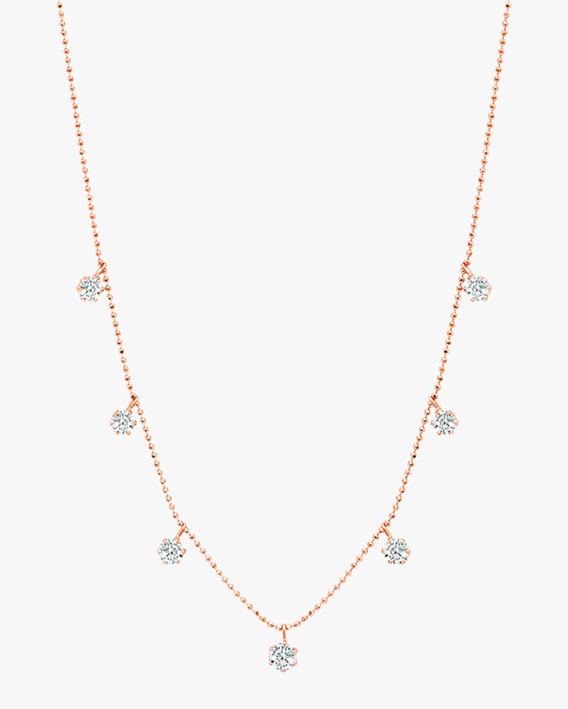 Graziela Gems Medium Rose Gold Floating Diamond Necklace 1