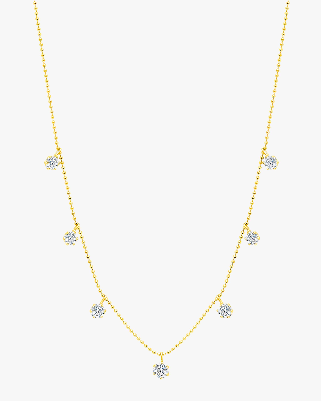 Graziela Gems Medium Yellow Gold Floating Diamond Necklace 1