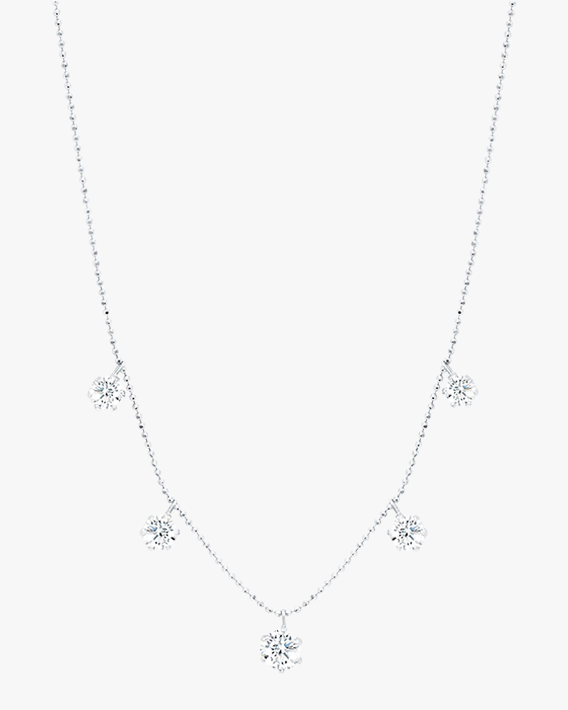 Graziela Gems Large White Gold Floating Diamond Necklace 0