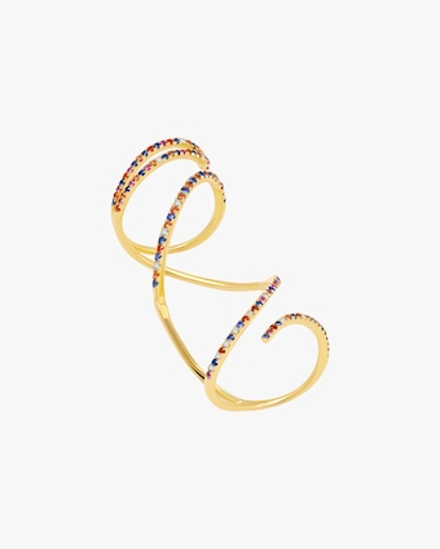 Graziela Gems Rainbow Sapphire Mega Swirl Ring 1