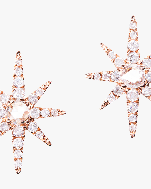 Graziela Gems Rose Gold Starburst Stud Earrings 1