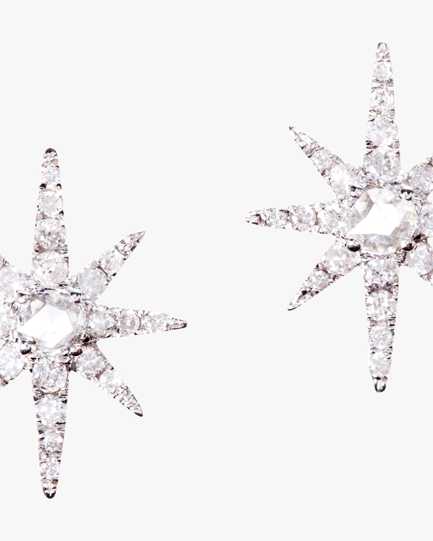 Graziela Gems White Gold Starburst Stud Earrings 1