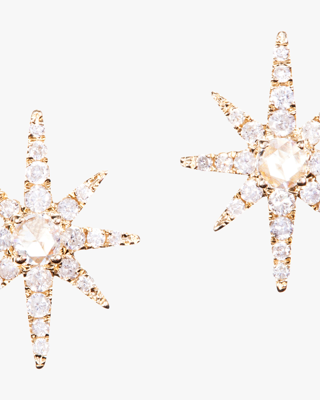 Graziela Gems Yellow Gold Starburst Stud Earrings 2