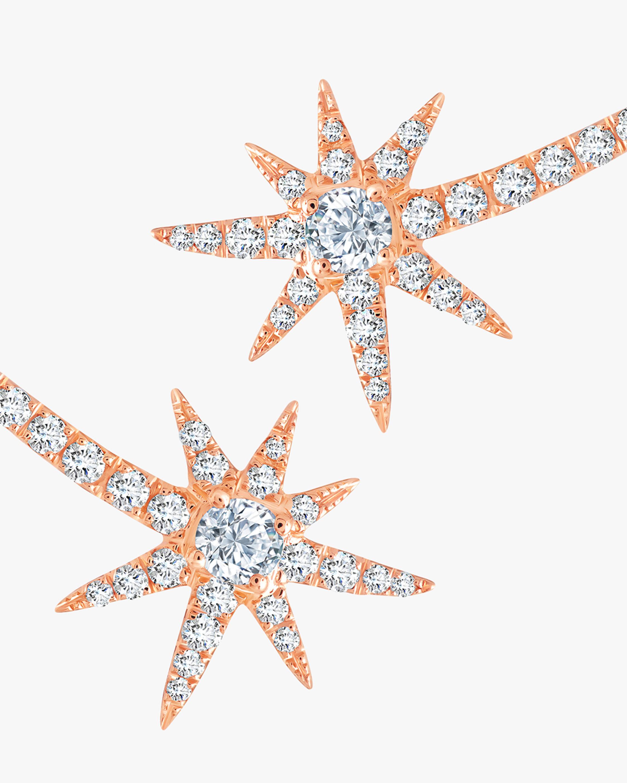 Graziela Gems Rose Gold Shooting Starburst Stud Earrings 1
