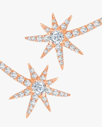 Graziela Gems Rose Gold Shooting Starburst Stud Earrings 2