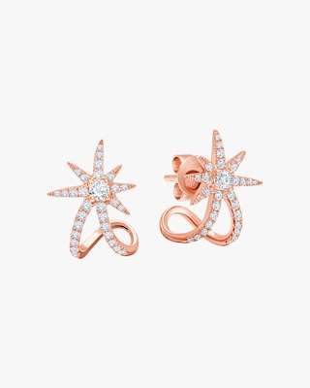 Graziela Gems Rose Gold Starburst Ear Cuffs 1